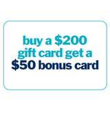 200 gift card with 50 bonus card