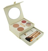 Jane Iredale Starter Kit 2x Pressed Powder Moisture Tint Concealer Blush Lip Plumper 3x Brush Mahogany 9pcs