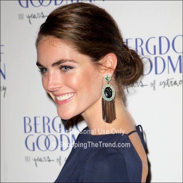 Hilary Rhoda chignon at Bergdorf Goodman 111th Anniversary Party