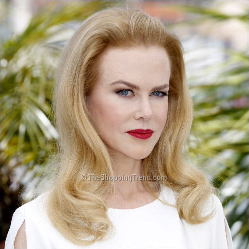 Nicole Kidman hairstyle & makeup at Cannes 'Grace of Monaco' Photocall