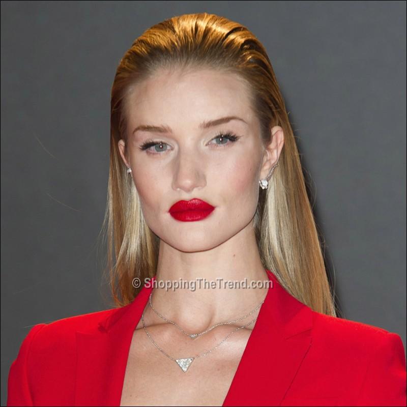 Rosie Huntington-Whiteley red lips - British Fashion ... Rosie Huntington Whiteley Lips