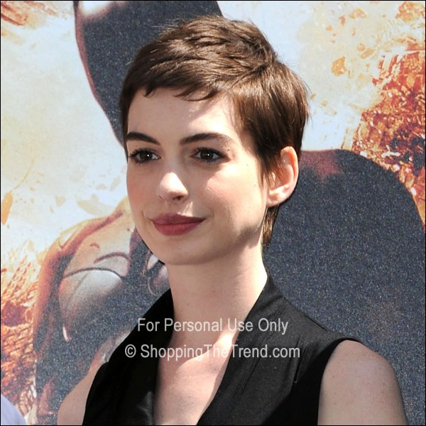 Anne Hathaway Pixie Haircut @ Hollywood Walk Of Fame Ceremony