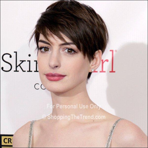 Anne Hathaway Short Hair & Makeup