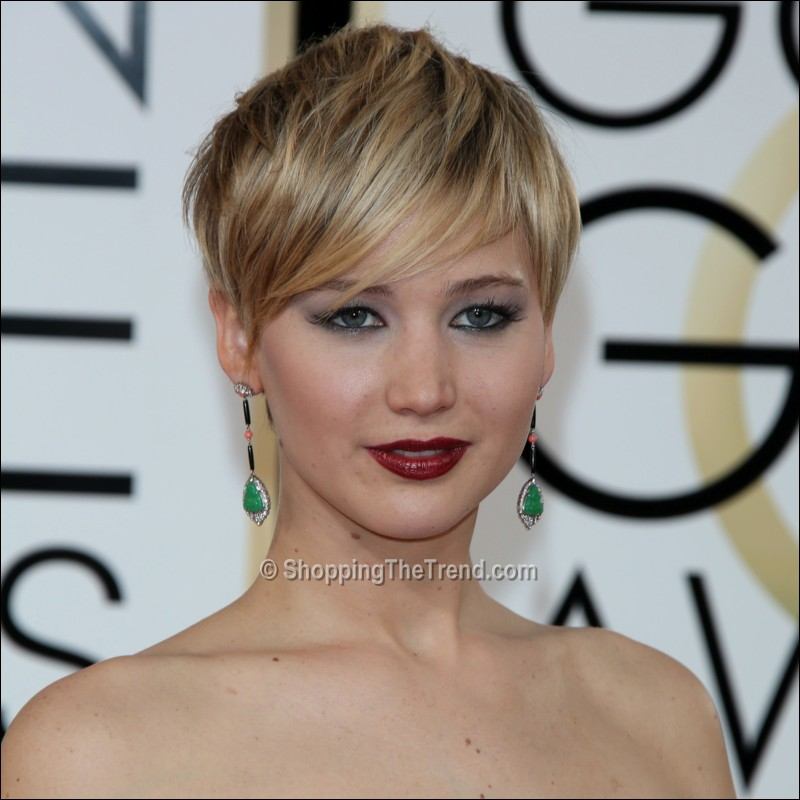 jennifer lawrence short hair golden globe awards 2014