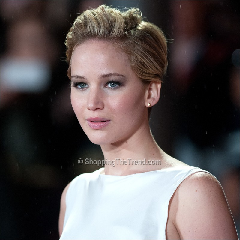 Jennifer Lawrence Short Hair The Hunger Games Catching