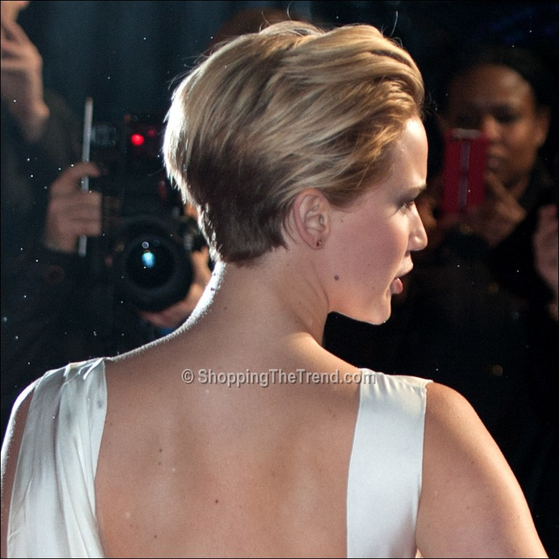 Jennifer Lawrence short hair (side view) - 'Catching Fire' World ...