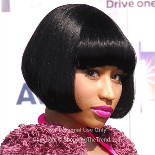 Nicki Minaj Bob Hairstyle Bet Awards