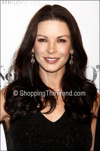 catherine zeta jones alice & olivia black dress monte cristo award