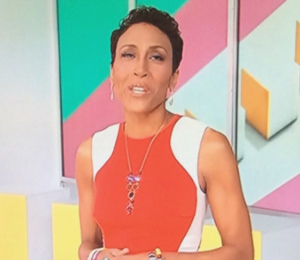 Robin Roberts in Stella McCartney red dress - ABC The Year