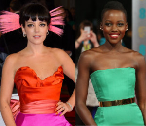 Lily Allen in Vivienne Westwood & Lupita Nyong'o - BAFTAs in colour!