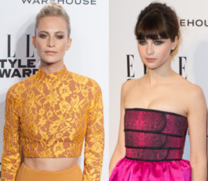 Poppy Delevingne & Felicity Jones - ELLE Style Awards 2014