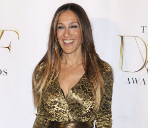 Sarah Jessica Parker at DVF Awards 2014 - glittering in gold!