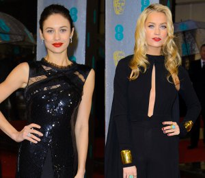 Olga Kurylenko, Laura Whitmore, Thandie Newton & more in black - BAFTAs 2013