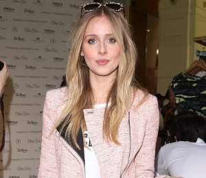 Diana Vickers pretty pink shorts suit at French Connection party