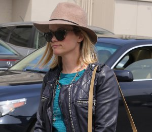 Reese Witherspoon leather jacket by Isabal Marant - LA Street Chic