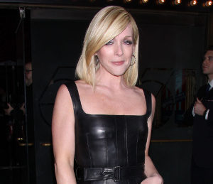 Jane Krakowski black leather dress at 'Cabaret' opening night
