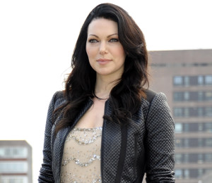 Laura Prepon scallop beaded dress - 'Orange Is The New Black' photocall
