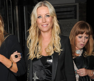 Denise Van Outen black playsuit at 40th Birthday - MARC by Marc Jacobs