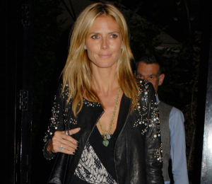 Heidi Klum in DvF jumpsuit at Chiltern Firehouse in London