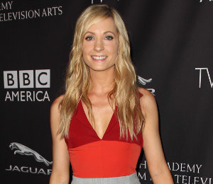 Joanne Froggatt Altuzarra colour block dress at BAFTA Tea Party