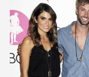 Nikki Reed in Rebecca Minkoff black dress at Bloomingdale's Pink Party