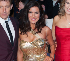 Susanna Reid in Ariella gold dress - sparkling at Pride of Britain Awards