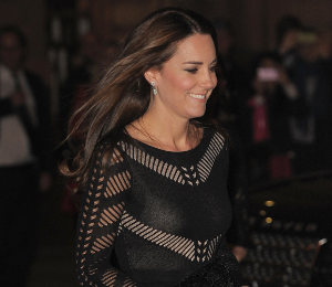 Kate Middleton in Temperley London black dress at 'Action on Addiction' Gala