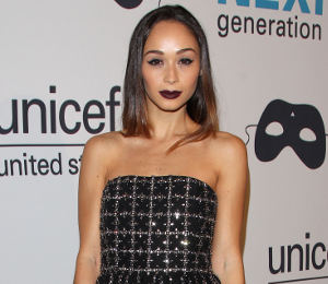 Cara Santana sparkles in alice + olivia at the UNICEF Masquerade Ball