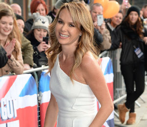 Amanda Holden white dress at BGT Auditions by Roland Mouret