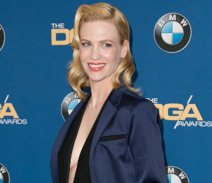 January Jones in Sandro suit - tailored chic at DGA Awards!