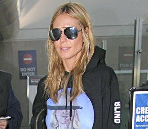 Heidi Klum Hoodie: What is Blind Girl Surf Club? Julian Schnabel print!