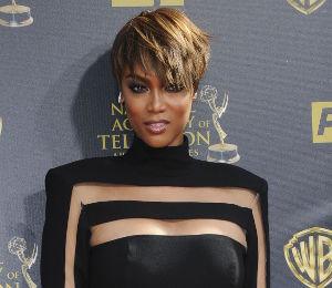 Tyra Banks Black Jumpsuit Amp Short Hair At Daytime Emmy