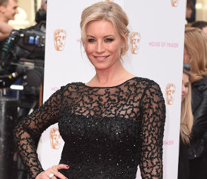 Denise Van Outen black dress at BAFTA TV Awards by Ariella Couture