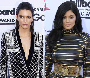 Kendall and Kylie Jenner in Balmain