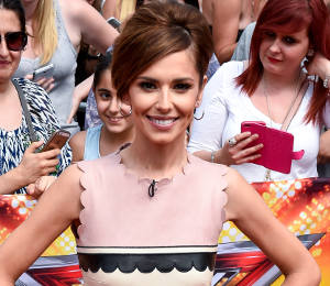 Cheryl pink scallop dress & Mary Jane pumps at X Factor Auditions - get the look!