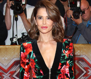 Cheryl Fernandez-Versini floral dress by Balmain at X Factor launch!