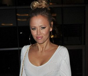 Shop Kimberley Walsh crochet dress by Catherine Malandrino in Manchester