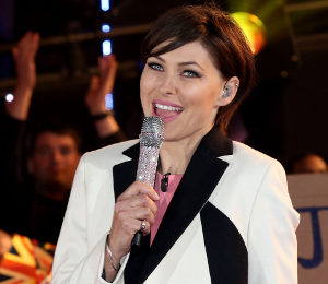 Emma Willis dress and coat on 'Celebrity Big Brother' Final - get the look!