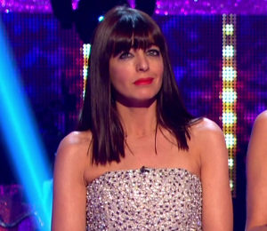Claudia Winkleman jumpsuit on Strictly October 10 by alice + olivia