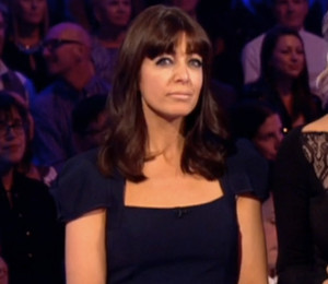 Claudia Winkleman navy jumpsuit on Strictly October 10 by Roland Mouret