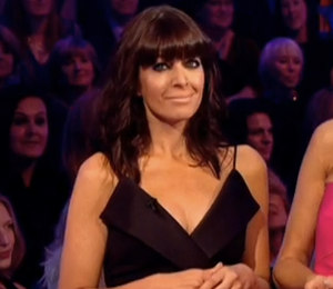 Claudia Winkleman black dress on Strictly - October 24th