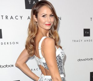 Shop Stacy Keibler Rebecca Minkoff dress to celebrate Tracy Anderson Studio