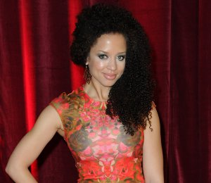Shop Natalie Gumede McQ floral dress - British Soap Awards 2013