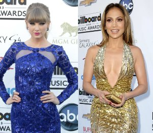 Taylor Swift & Jennifer Lopez in Zuhair Murad - Billboard Music Awards