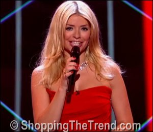 Holly Willoughby Preen red dress on The Voice UK - June 7