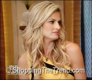 Erin Andrews yellow Escada dress - 'LIVE! with Kelly & Michael' June 28