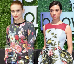 Shop Holland Roden & Crystal Reed floral print - Young Hollywood Awards 2013