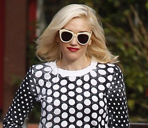 Street Chic: Shop Gwen Stefani Michael Kors dotted knit pullover in LA - Jan 24