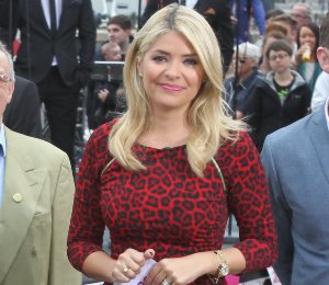 Holly Willoughby red leopard dress by Michael Kors - 'This Morning' 25th Anniversary