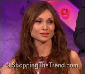 Sophie Ellis-Bextor Burberry latex dress on Chatty Man